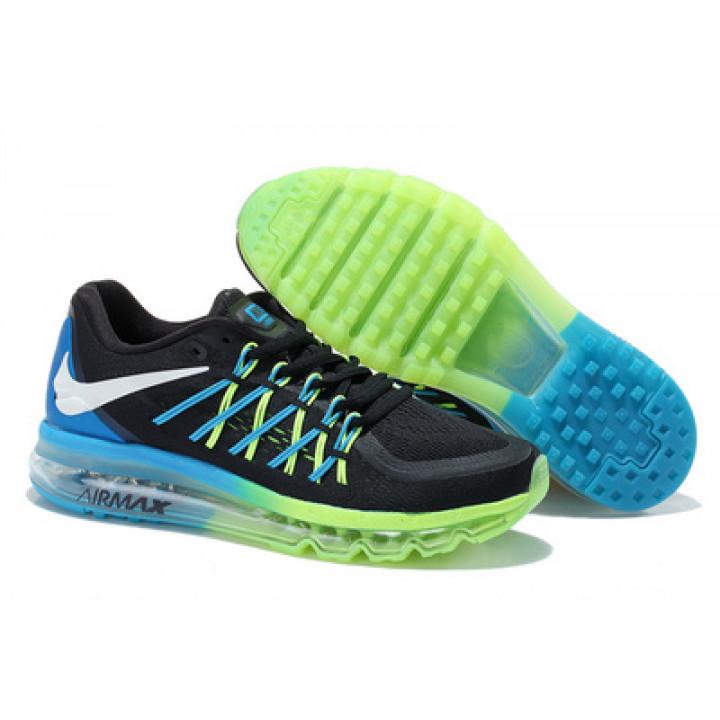 Кроссовки Nike Air Max 2015 черные с салатовым в Украине